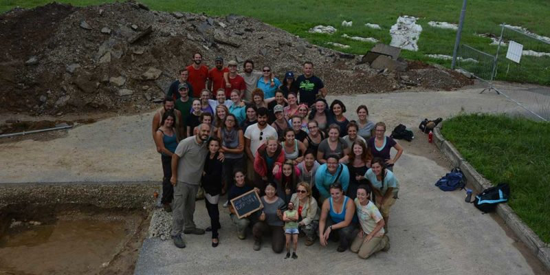 One of the last excavation group