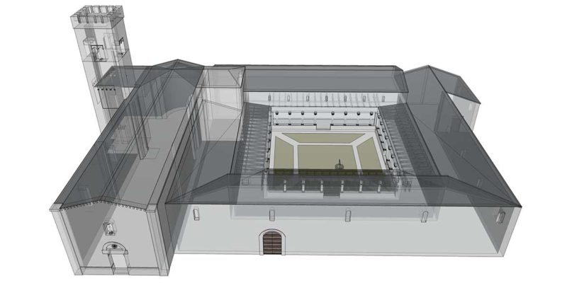 3D reconstruction of the XIII century's Abbey