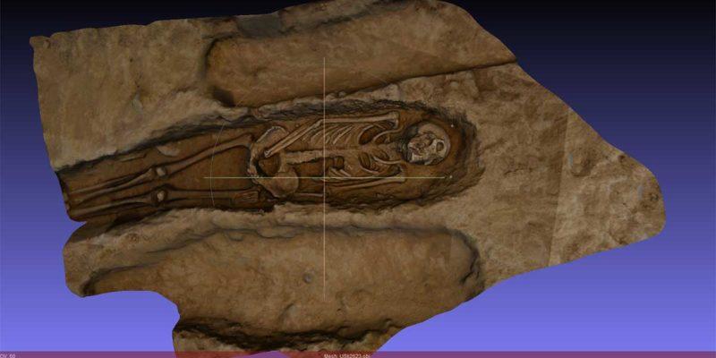 Digital reconstructionof a skeleton using photogrammetry